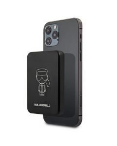 Power bank with wirelles charging KARL LAGERFELD KLPBMSOIBK 3000mAh with MagSafe
