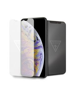 Guess Glass GUTGMI65TR for iPhone Xs Max Invisible Logo