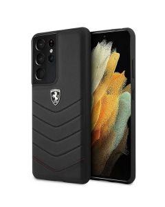 Original faceplate case Ferrari FEHQUHCS21LBK Samsung S21 Ultra black