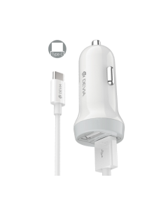 DEVIA Idrawer series smart car charger set for Type-C