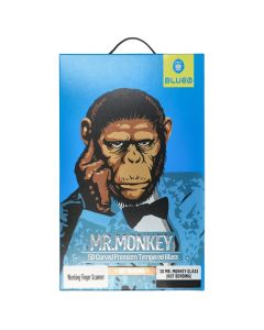 5D Mr. Monkey Glass - Apple iPhone X black (Hot Bending)
