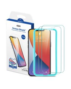 ESR Screen Shield tempered glass 2 pack for IPHONE 12 PRO MAX transparent