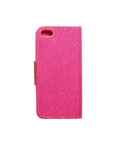 CANVAS Book case for IPHONE 5/5S/SE pink