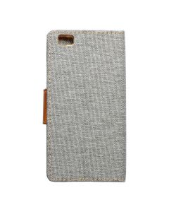 CANVAS Book case for HUAWEI P8 Lite gray