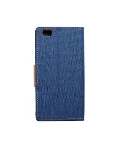 CANVAS Book case for HUAWEI P8 Lite blue