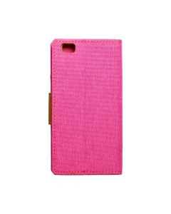 CANVAS Book case for HUAWEI P8 Lite pink