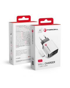 Travel Charger  USB Type C Universal 2A + cable Forcell