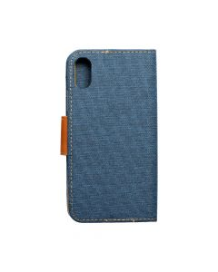 CANVAS Book case for IPHONE X navy blue