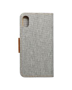 CANVAS Book case for IPHONE X gray