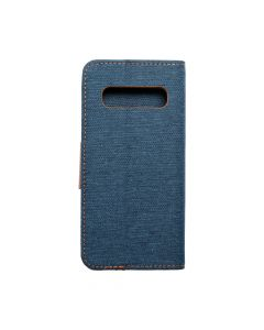 CANVAS Book case for SAMSUNG S10 navy blue