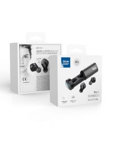 Bluetooth Earphone Stereo - Blue Star TWS LT1 PRO black with docking station