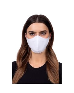Profiled face mask - white color
