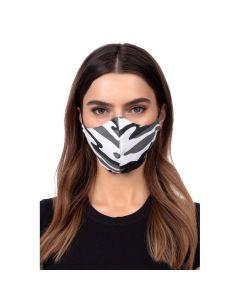 Profiled face mask - grey camo