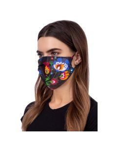Face mask folklore black