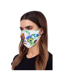 Face mask folklore white