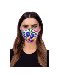 Profiled face mask - folklore black