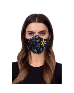 Profiled face mask - folklore 2 black