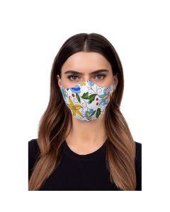 Profiled face mask - folklore 2 white