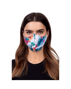 Profiled face mask - flower