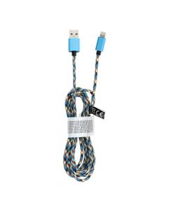 Cable USB for iPhone Lightning 8-pin Nylon C246 blue 2 meter