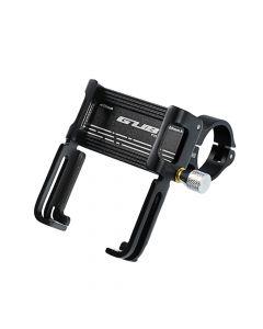 Bike holder GUB P20 Aluminium black for mobile phone + 360° rotated