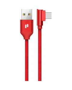 PURIDEA cable USB - Type C 2.0 QC L23 2.4A Red