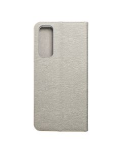 Forcell LUNA Book Gold for HUAWEI P Smart 2021 silver