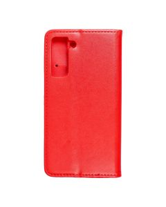 Magnet Book case for - SAMSUNG Galaxy S21 red