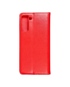 Magnet Book case for - SAMSUNG Galaxy S21 PLUS red