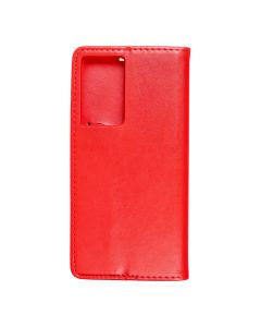 Magnet Book case for - SAMSUNG Galaxy S21 ULTRA red