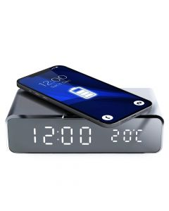 Wireless charger Qi with clock and with a thermometer 10W GJ-05
