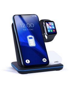 Wireless charger Qi with LED 3in1 15W GY-Z5A black