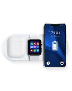 Wireless charger Qi with LED 3in1 15W KT-IW white