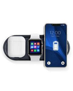 Wireless charger Qi with LED 3in1 15W KT-IW black
