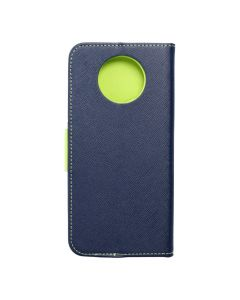 Fancy Book case for  XIAOMI Redmi NOTE 9T 5G navy / lime