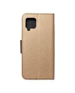 Fancy Book case for  SAMSUNG A42 5G gold / black