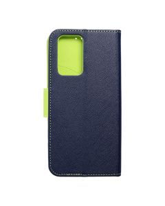 Fancy Book case for XIAOMI Redmi NOTE 10 PRO / 10 PRO MAX navy / lime