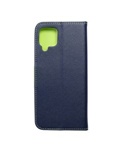 Fancy Book case for  SAMSUNG M12 navy lime