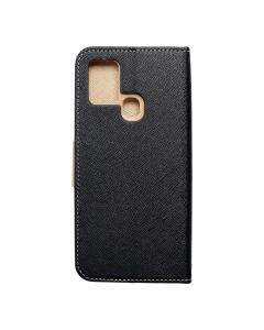 Fancy Book case for  SAMSUNG A21s gold / black