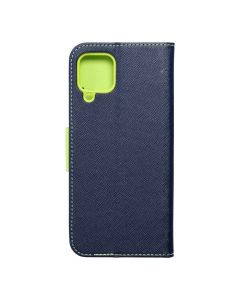 Fancy Book case for SAMSUNG A22 4G navy / lime