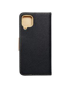 Fancy Book case for SAMSUNG A22 4G black / gold