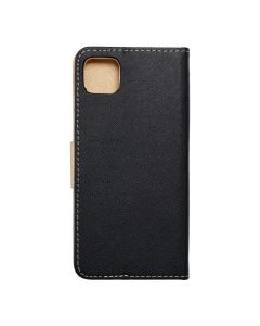 Fancy Book case for SAMSUNG A22 5G black / gold