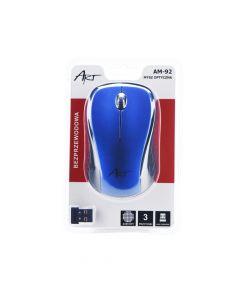 Art Optical wireless mouse USB AM-92 blue