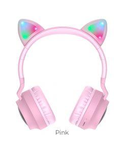 HOCO W27 Cat ear wireless headphones pink