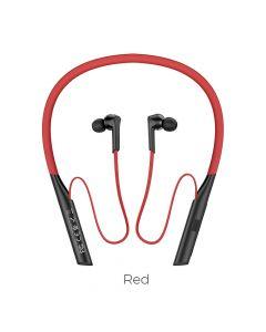 HOCO bluetooth earphones ES33 Mirth sports red