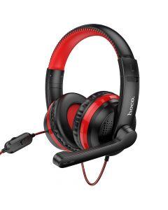 HOCO W103 Magic tour gaming headphones red