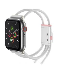 Baseus lockable rope strap for Apple Watch Let`s go Series 38mm / 40mm white-pink LBAPWA4-A24