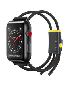 Baseus lockable rope strap for Apple Watch Let`s go Series 42mm / 44mm grey-yellow LBAPWA4-BGY