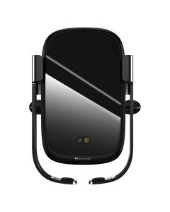 BASEUS car holder with wireless charger for air vent Rock-solid Electric black WXHW01-01