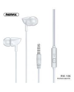 REMAX earphone RW-106 white